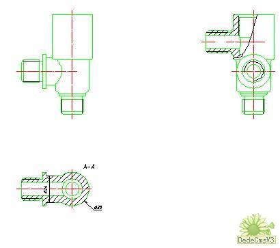 AutoCAD由立体图v管道三视图的管道-CAD安方法化工厂cad图图片