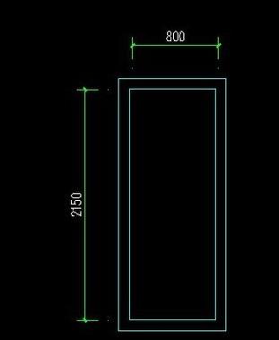 CAD房间门立面图怎么画
