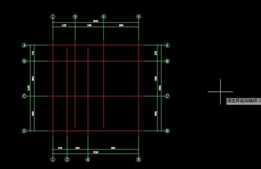 CAD轴网的尺寸标注怎么使用