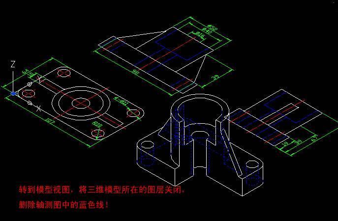 把CAD三维平面v平面到二维现状?模型结构cad的我国如何图片