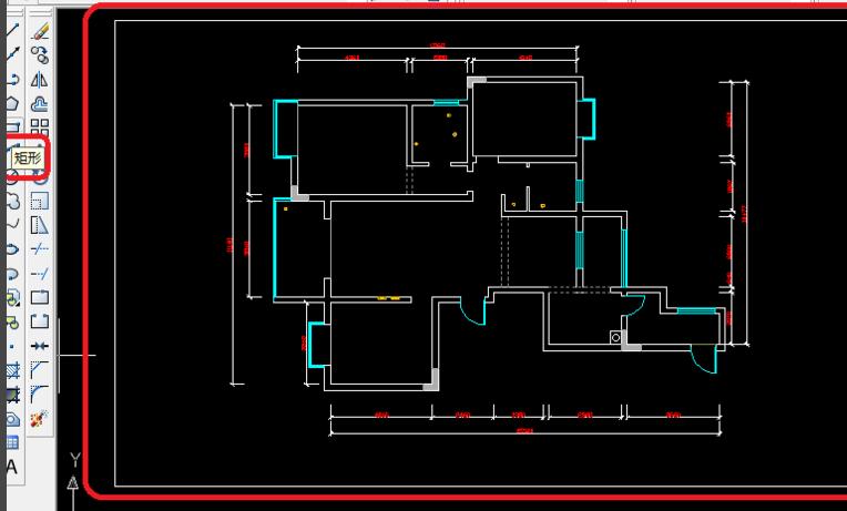 CAD2008新手自学教程25:CAD原始结构图画法cad中命令反转图片