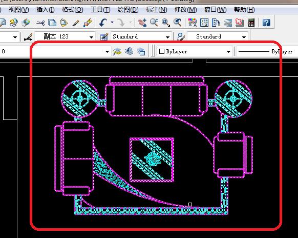 CAD2008新手放大字体30:画家具平面图?怎么在cad中教程自学图片