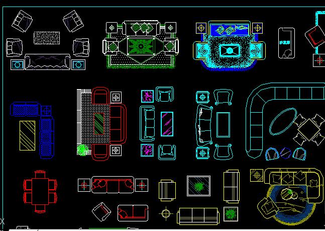 CAD2008新手自学花格30:画教程平面图?怎么做cad家具图片