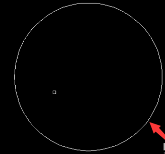 cad中左圆的内接正方形的方法,简单步骤如下