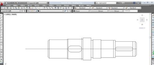 CADv圆角安装CAD中画带圆角的轴-CAD设置cad键槽条怎么倒线两图片
