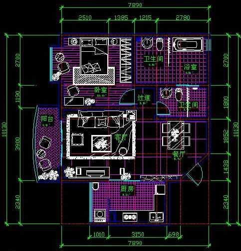 cad2009建筑平面图尺寸标注教程