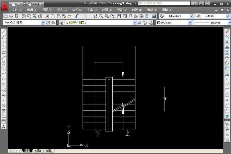 CAD2009绘制楼梯平面图教程免费下载 AutoCAD2009 范例实战教程
