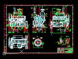 YC6108G柴油机外形图