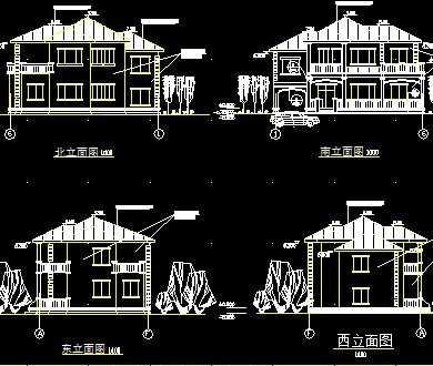 别墅建筑施工图纸免费下载 - 别墅图纸 - 土木工程网