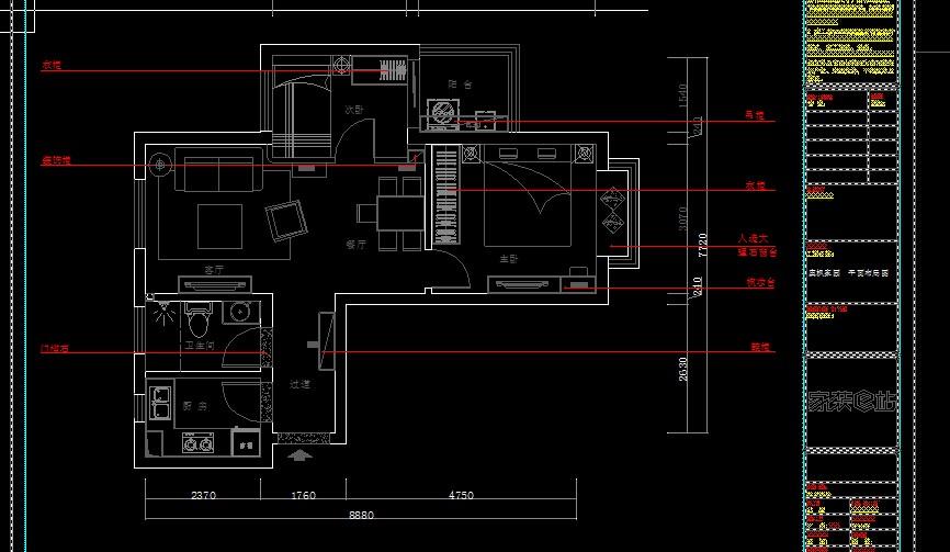 某住宅装修设计图免费下载 - 装修图纸 - 土木工程网