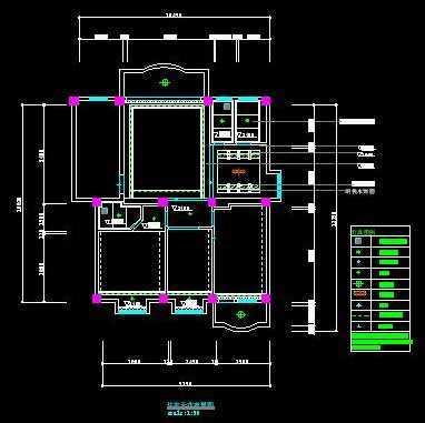 cad2005家居平面图布置灯具