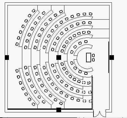 CAD阶梯教室平面布置图的绘制教程免费下载 AutoCAD室内设计和建
