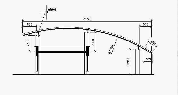 CAD标注笔试剖面图教程屋面免费下载-AutoCcad尺寸试题图形图片