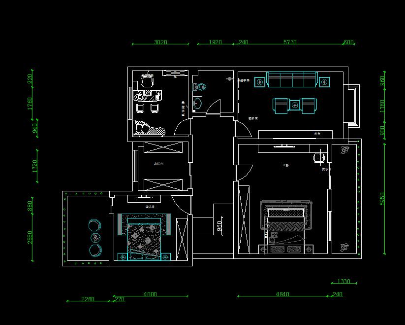 住宅户型平面布置图