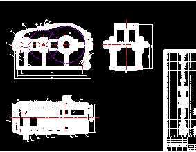 二级减速器cad图