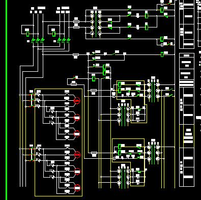 高压配电机回路原理图