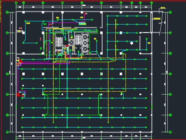 办公楼照明及电视监控系统设计(含图纸)