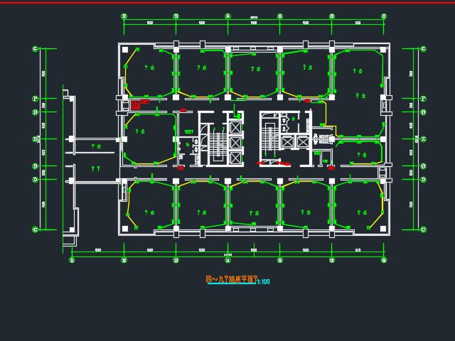 办公楼照明及综合布线系统龙八娱乐网上娱乐(含图纸)