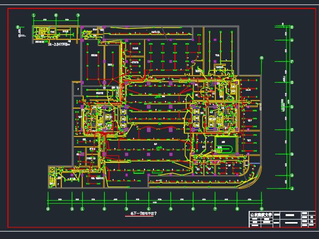 综合楼照明及综合布线系统电气毕业设计(含图纸)