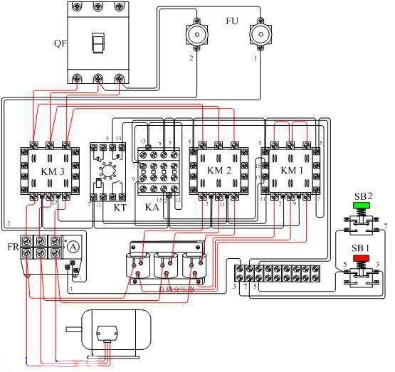 电动机自耦降压启动(自动控制电路)