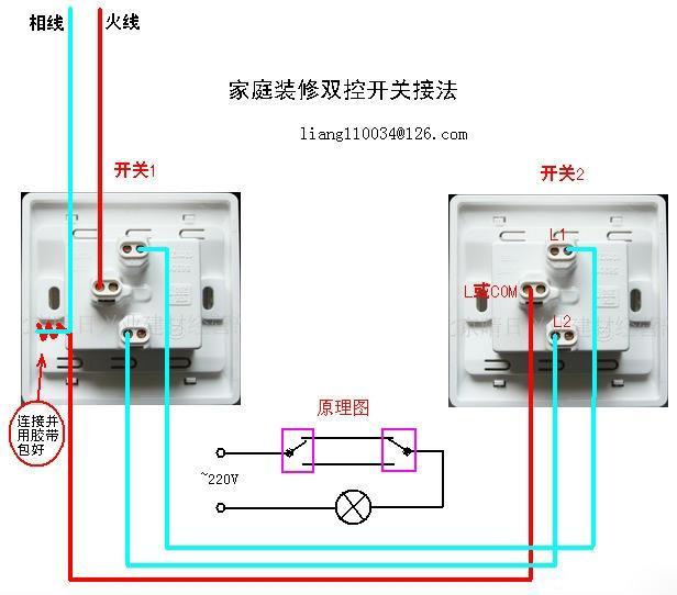 注: 图中l,l1,l2,l12,l22,l21,l22为开关接线柱标识.