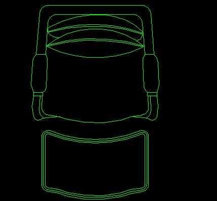cad椅子凳子平面设计图