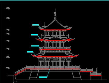 江滨公园景观亮化施工图纸