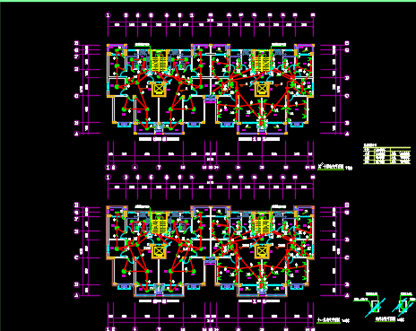高层住宅楼水电施工图纸
