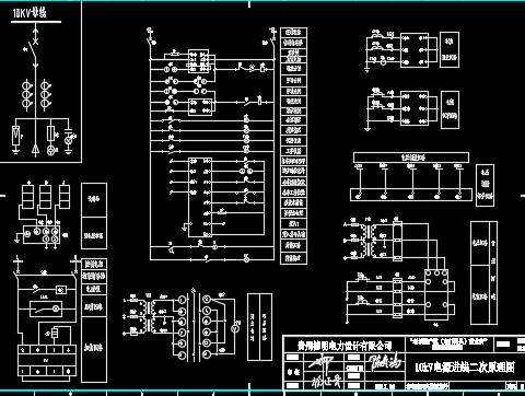 棚户区商业街10kV配电工程设计图纸