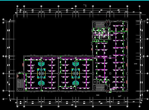 框架结构商业楼水电施工图纸