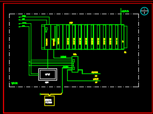 某污水处理厂分控站PLC自控施工图纸