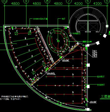 三层办公楼建筑增加强弱电工程电气照明施工设计图
