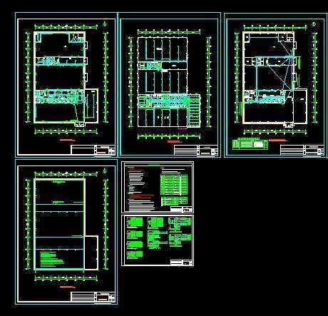 汽车4s店电气设计图
