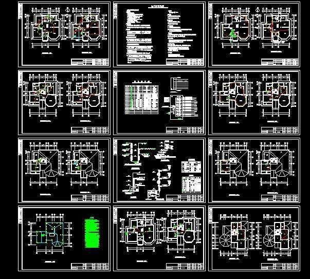 经典别墅强弱电施工图