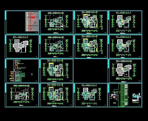别墅建筑电气设计图纸