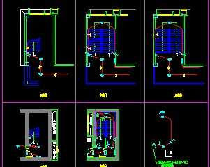 楼梯照明灯具布置画法设计图