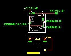 无障碍设计-tw-ht残卫呼叫系统图图片