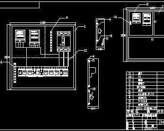 综合配电箱电气图