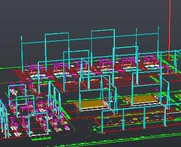 变电站构架支架3d设计图