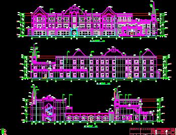 某幼儿园全套施工图(建筑结构水电暖)