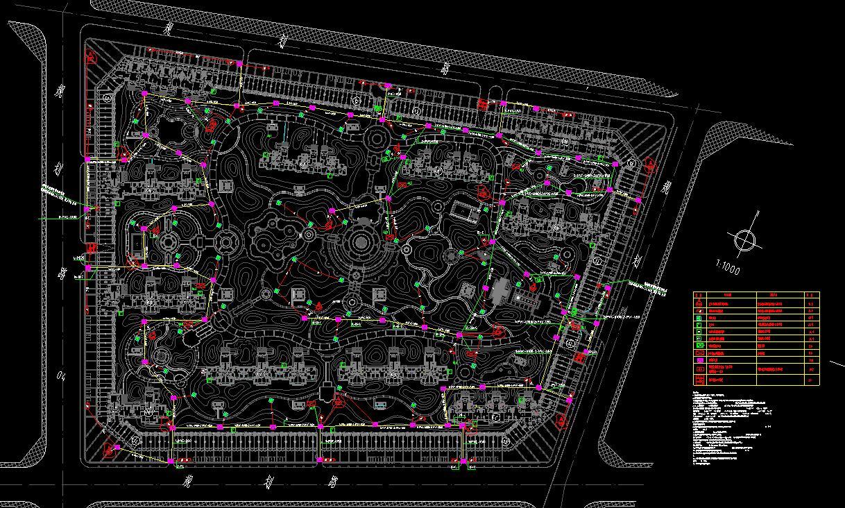 某77万米住宅小区弱电系统设计图(包含超高层)