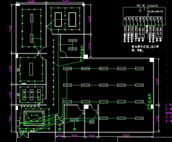 办公室照明插座网线平面图