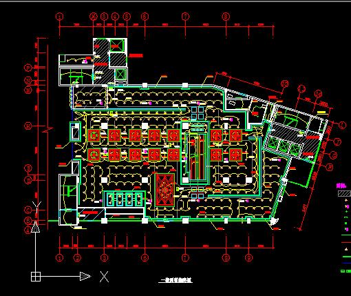 五层商场灯光布局设计图