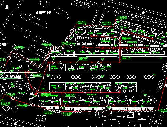 商业街电气总平面图