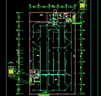 某人防车库电气设计图纸