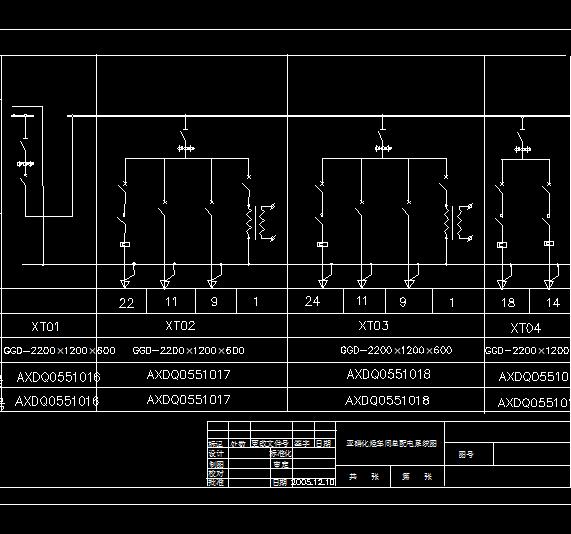 化工车间配电室低压配电图纸