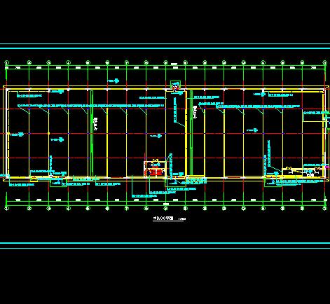 单层钢结构厂房照明接地设计图