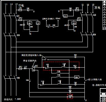 双电源,排烟风机,消防硬件控制箱控制原理图