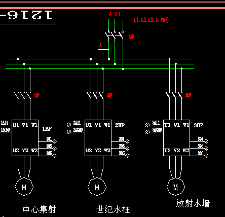 某音乐喷泉电气控制图