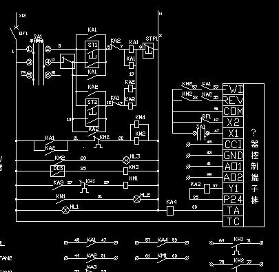 顺流及逆流风机变频控制柜接线原理图
